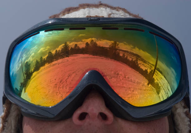 Ski Goggle Reflection  routt county stock pictures, royalty-free photos & images