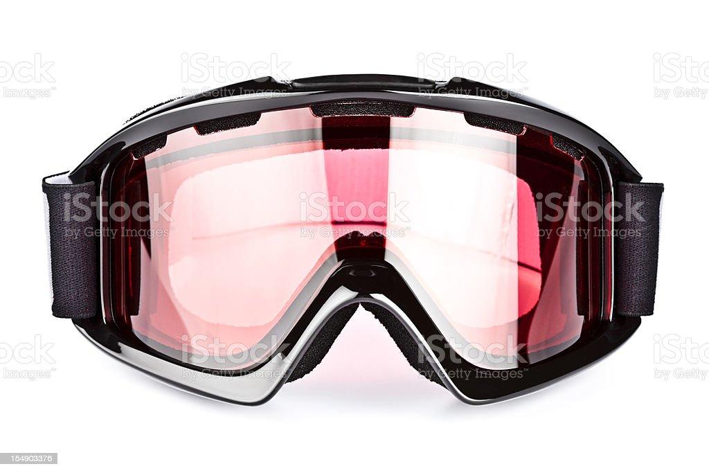 Ski goggles, isolated on white background royalty-free stock photo