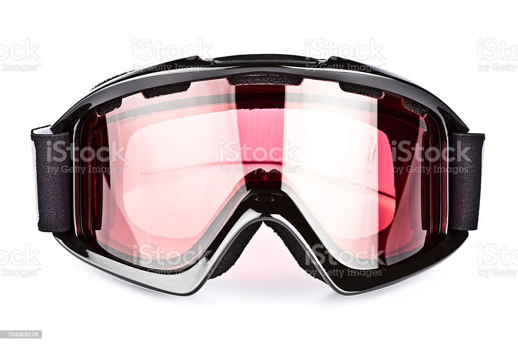 Ski goggles, isolated on white background stock photo