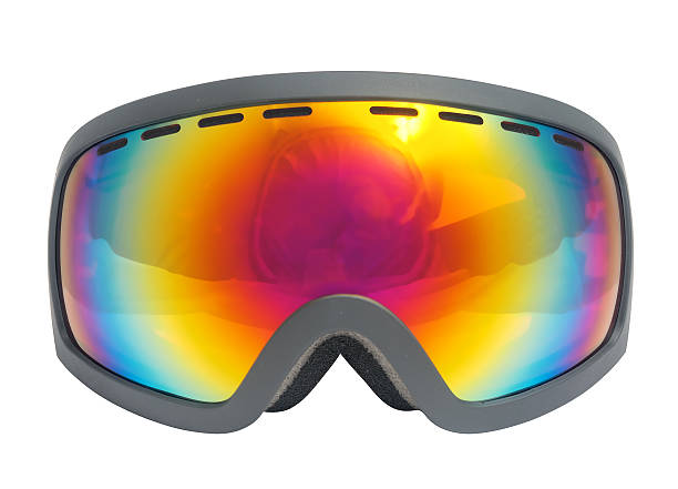 Ski Goggles. Isolated with clipping path. stock photo