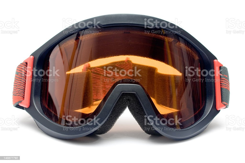 Ski Goggles (Front View) stock photo