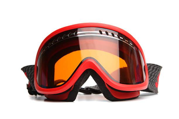 Ski Goggles Ski Goggles isolated on white ski goggles stock pictures, royalty-free photos & images