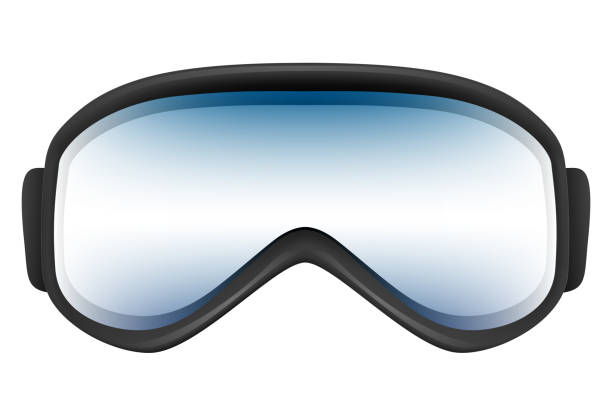 Ski goggles with reflection solated on the white Ski goggles with reflection isolated on the white background. Realistic 3D illustration. ski goggles stock pictures, royalty-free photos & images