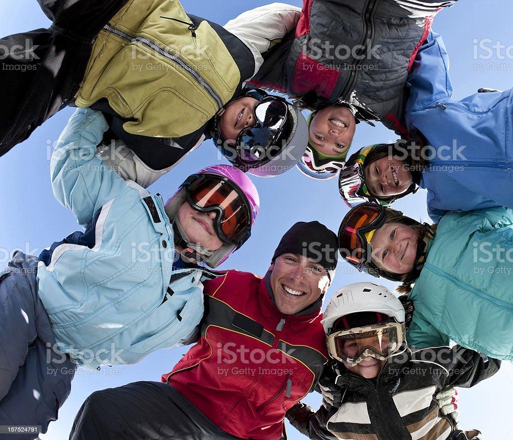Ski Group royalty-free stock photo