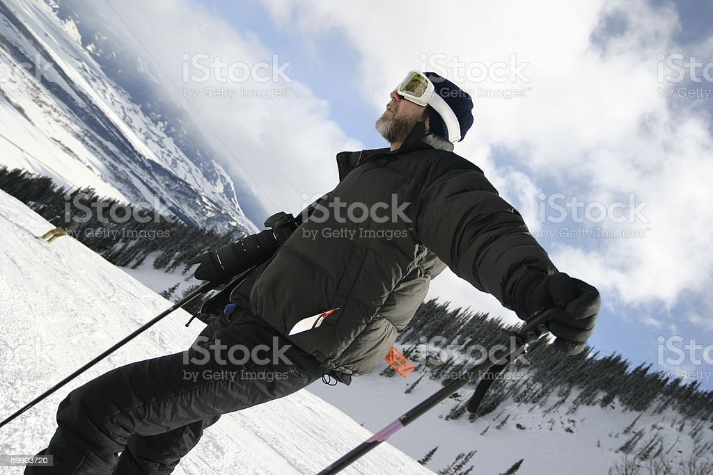 Ski Guy Camera royalty-free stock photo