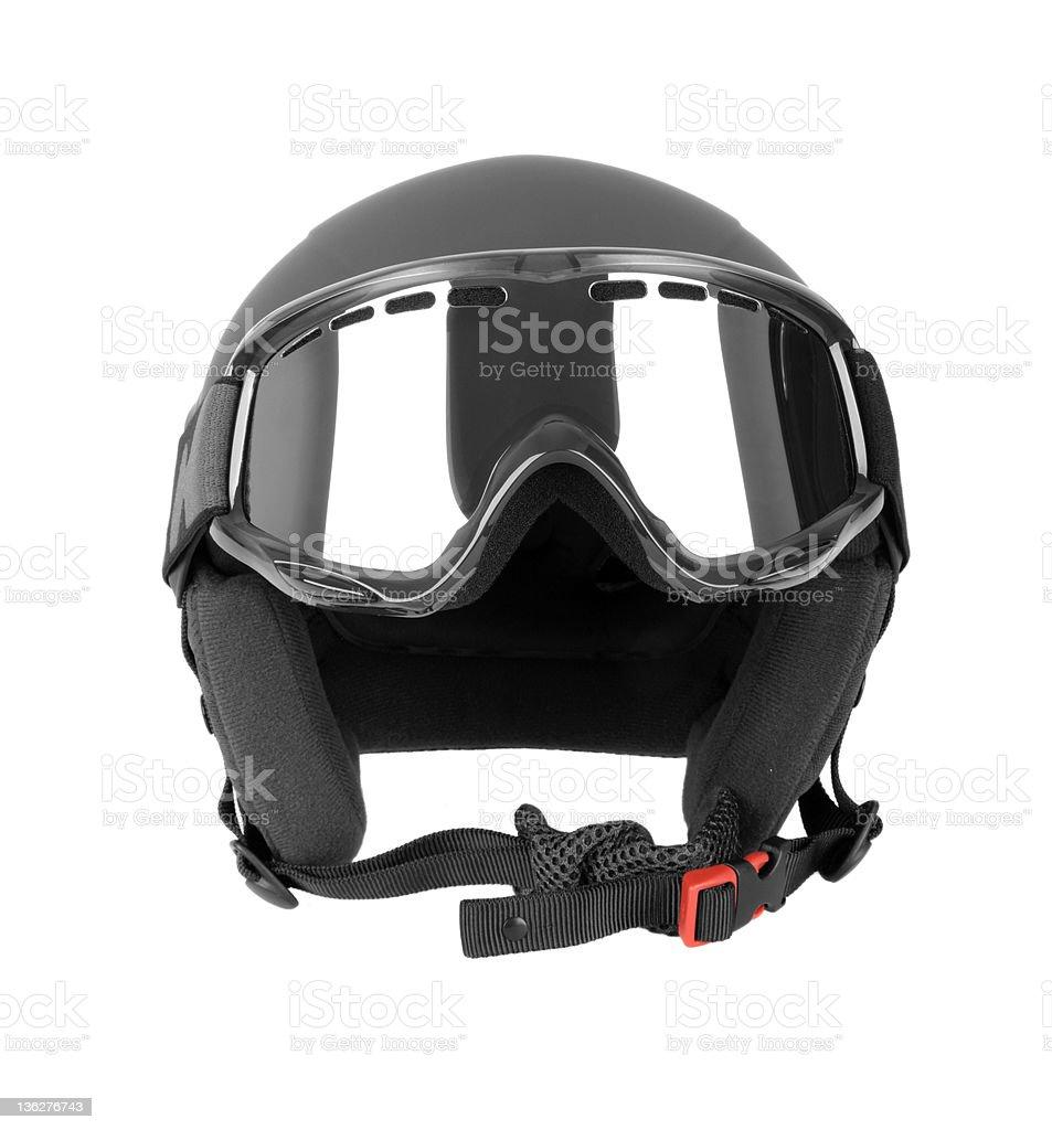 Ski helmet with goggles stock photo
