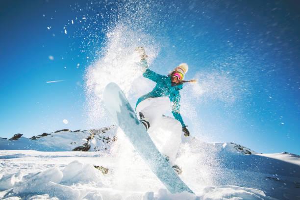 Ski holidays stock photo
