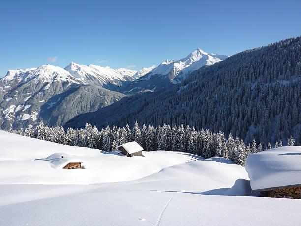 ski-Hütten in der ski-Bereich – Foto
