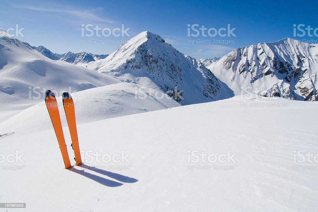 ski in a winter landscape -tirol stock photo
