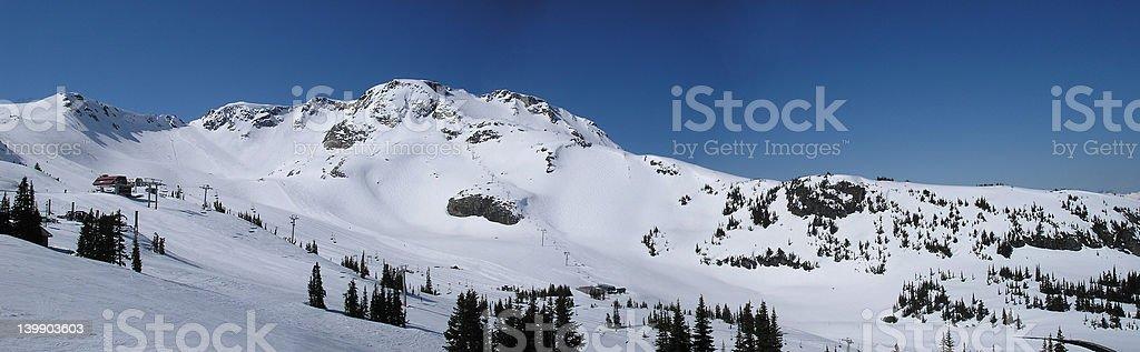 Ski in heaven stock photo