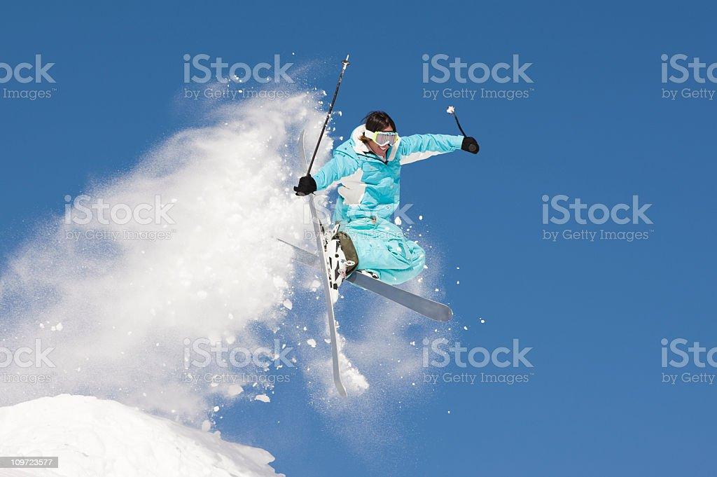 Ski Jump Against Clear Blue Sky royalty-free stock photo