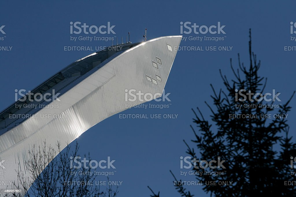 Ski jump area Garmisch Partenkirchen stock photo