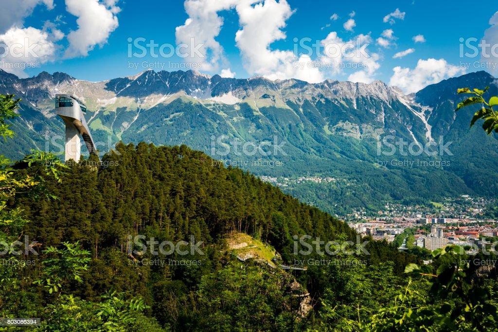 ski jump at Innsbruck stock photo