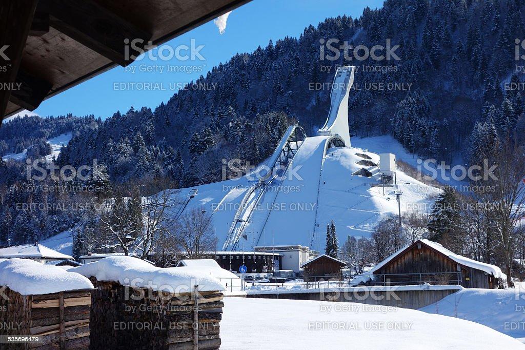 Ski Jump in Garmisch-Partenkirchen, Germany stock photo