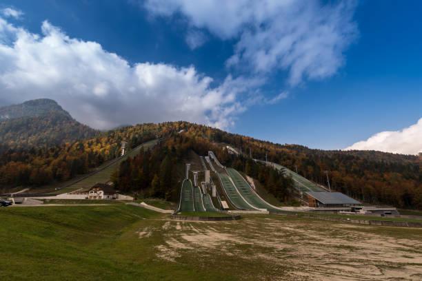 Sprungschanze Nordisches Zentrum, Planica in Slowenien – Foto