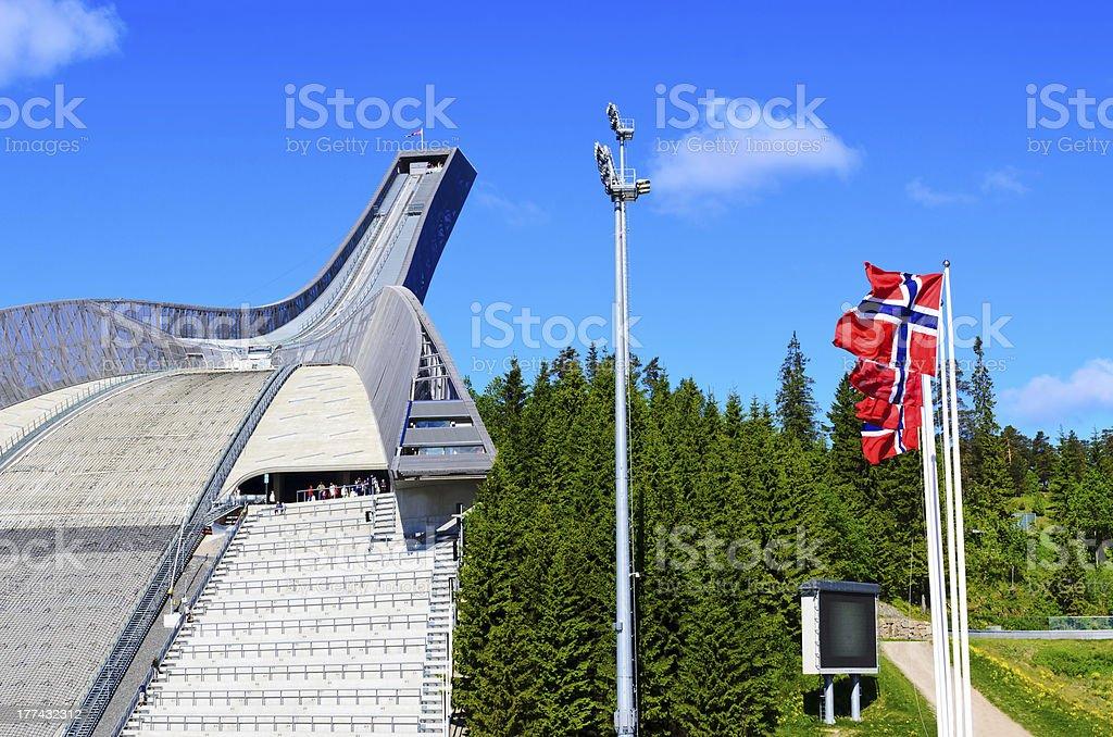 ski jump stock photo