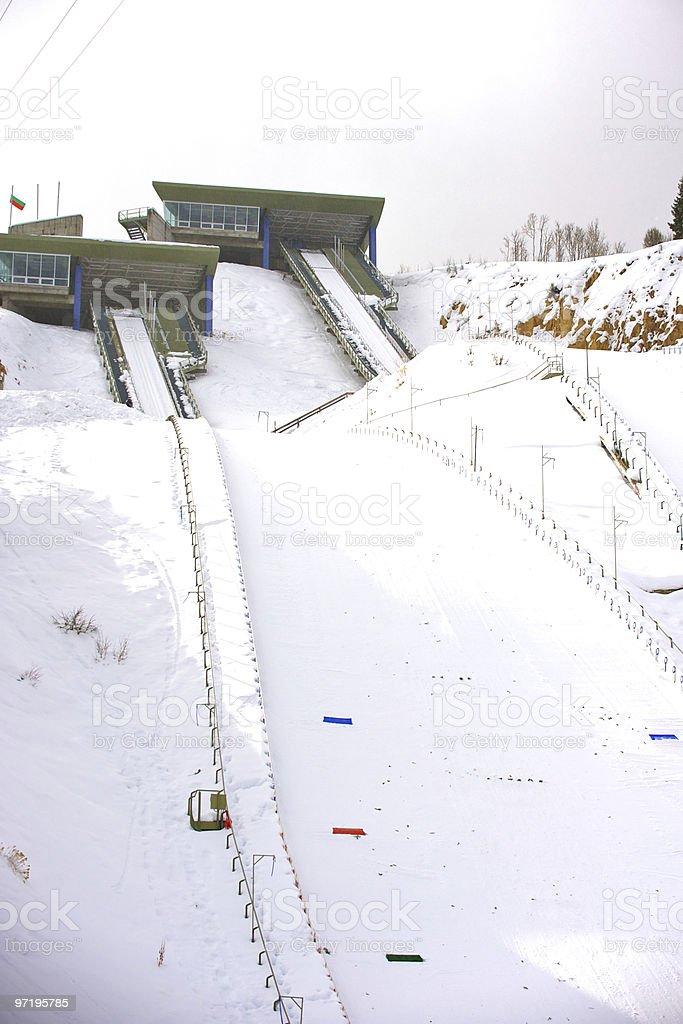 Ski jump venue. stock photo