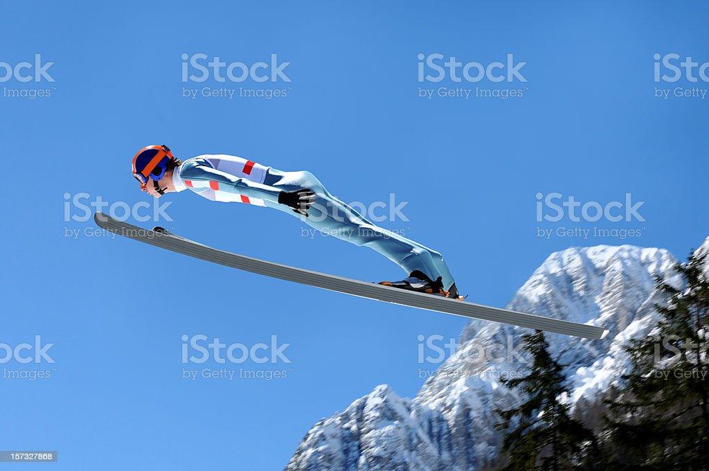 Ski jumping stock photo