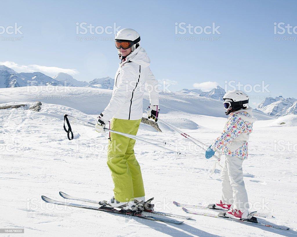 Ski lesson royalty-free stock photo