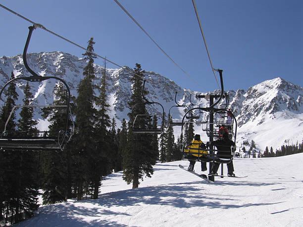 Ski Lift at Copper Mountain stock photo