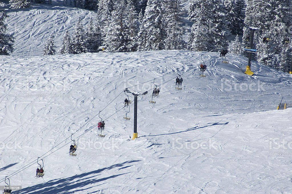 Ski lift at the resort royalty-free stock photo