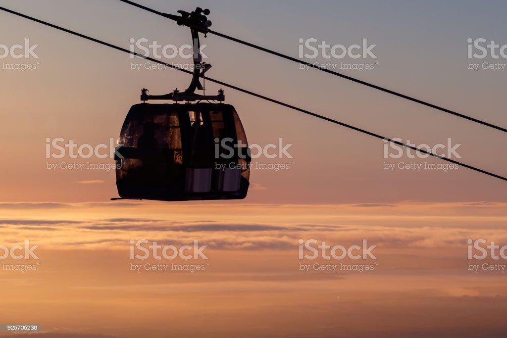 ski lift gondola cabin stock photo