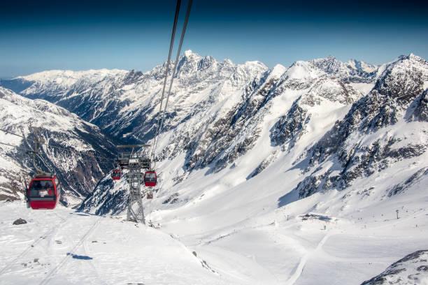 Skilift im Hochgebirge – Foto