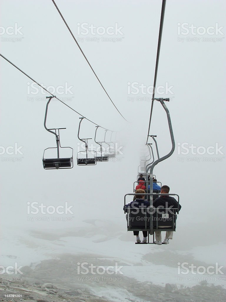 Ski Lift in the Swiss Alps royalty-free stock photo