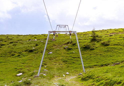 istock Ski lift on the mountain 543359164