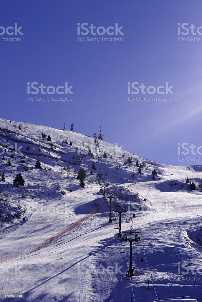 Ski lift royalty-free stock photo