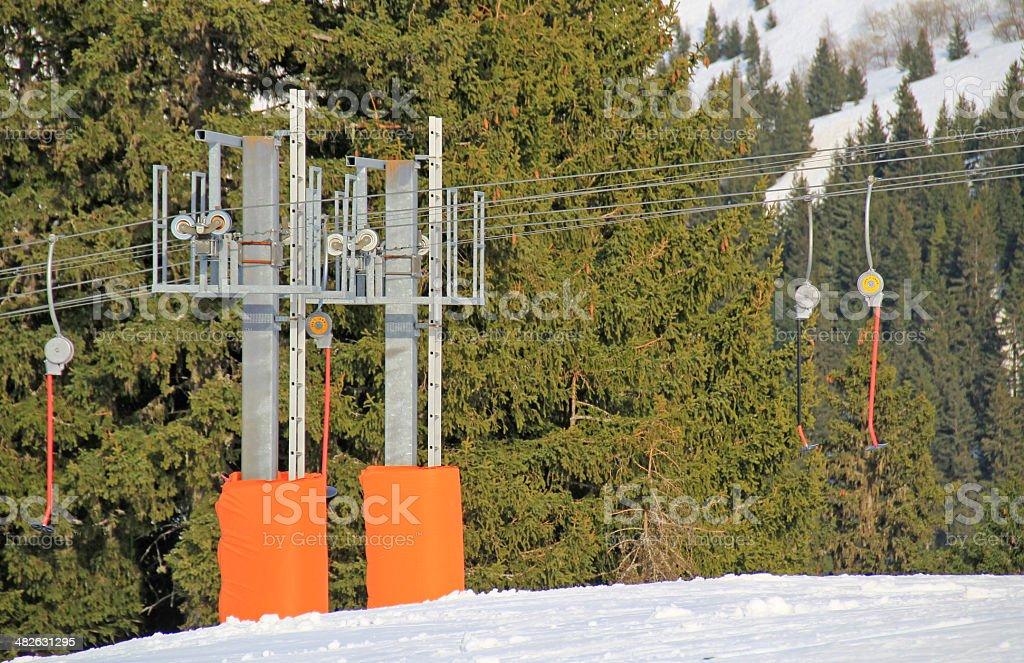 Ski lift. royalty-free stock photo