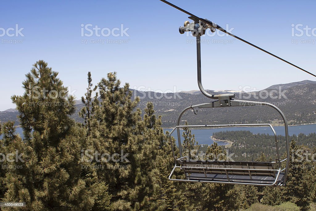 Ski Lift Ride in the Summer stock photo