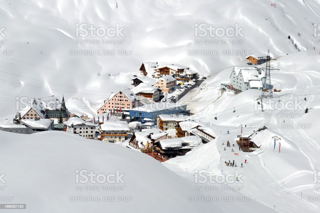 Ski lift - St Christoph - Skiing stock photo