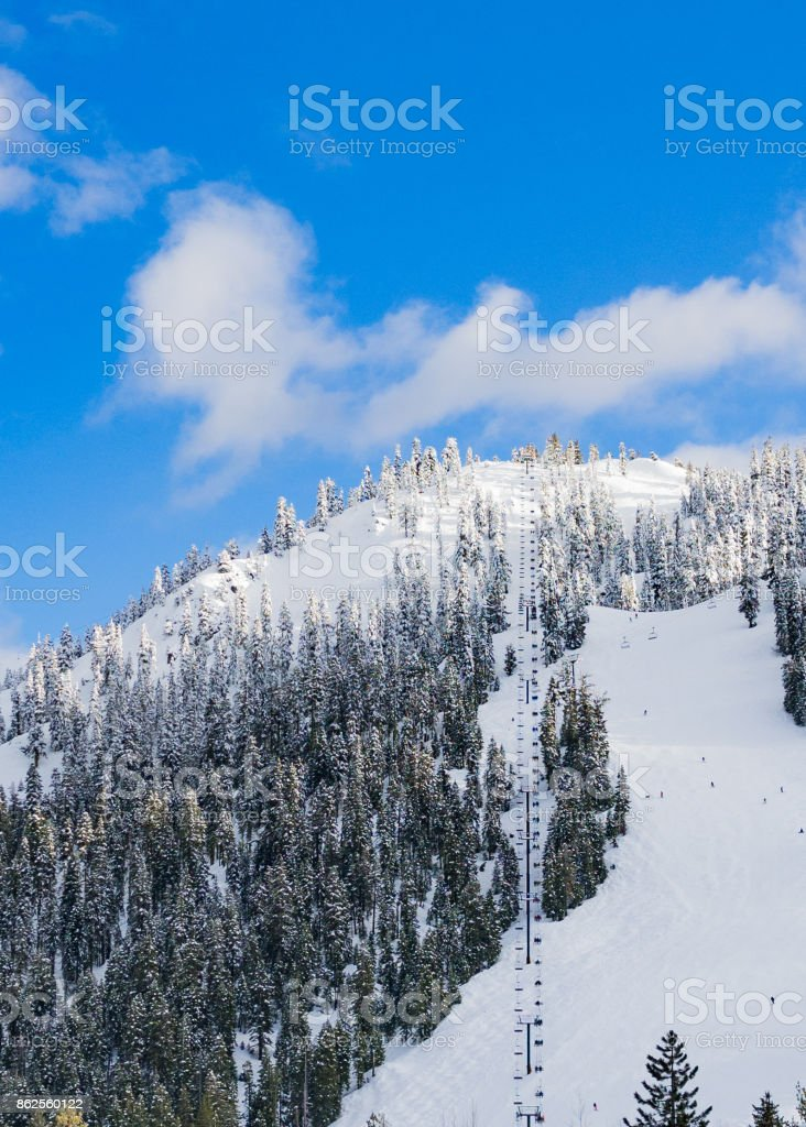 Ski lift to heaven royalty-free stock photo