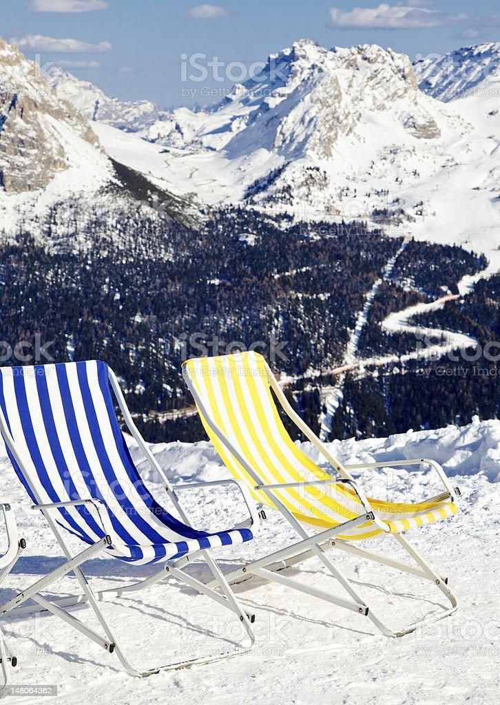 Ski lounge royalty-free stock photo