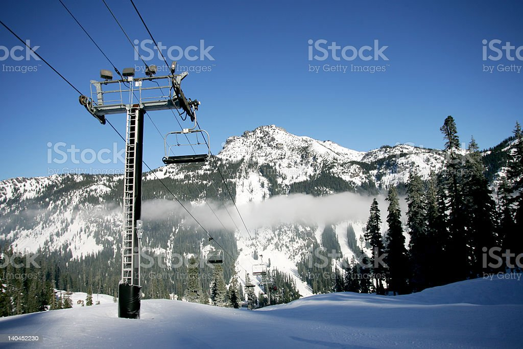 Ski Mountain stock photo