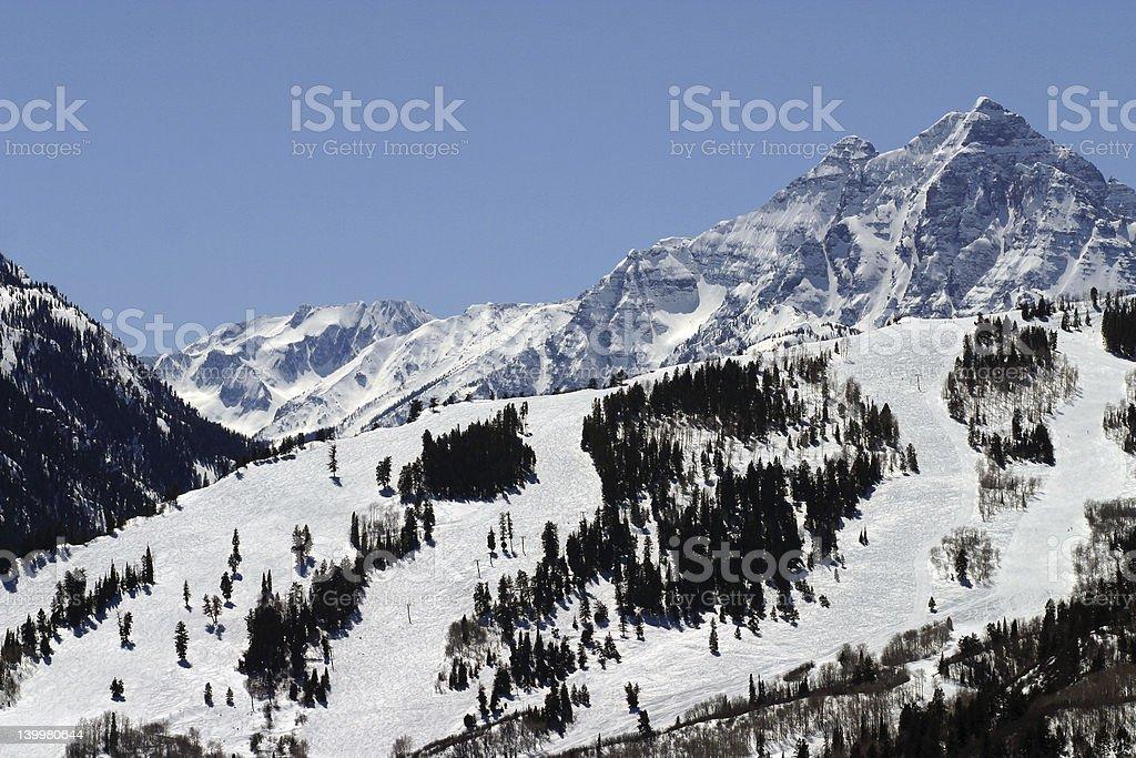Ski Mountain View stock photo