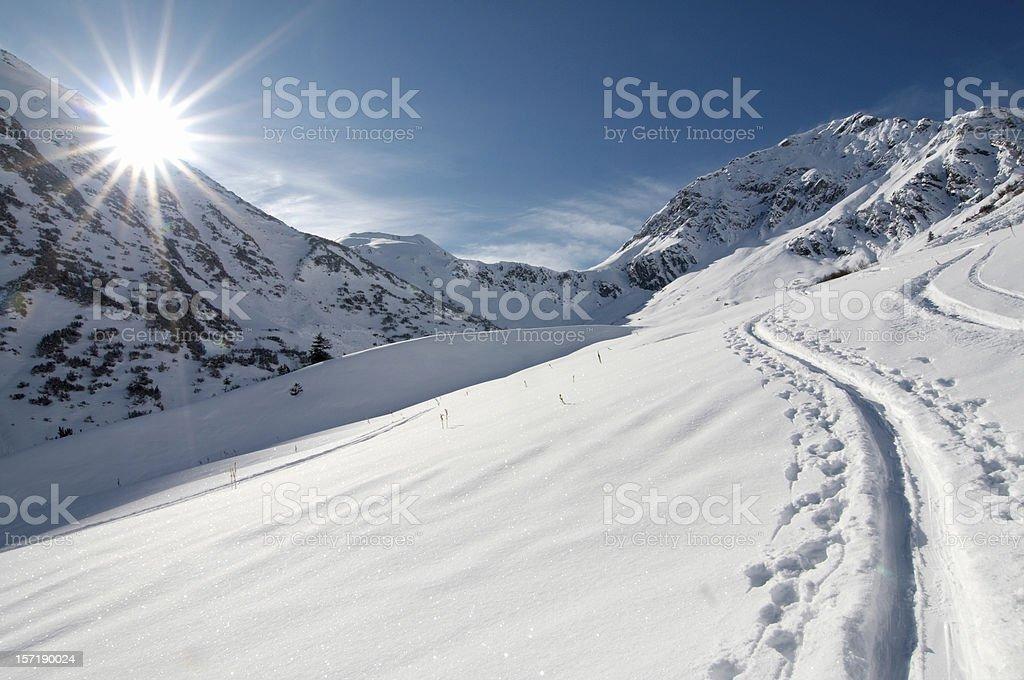 ski mountaineering royalty-free stock photo