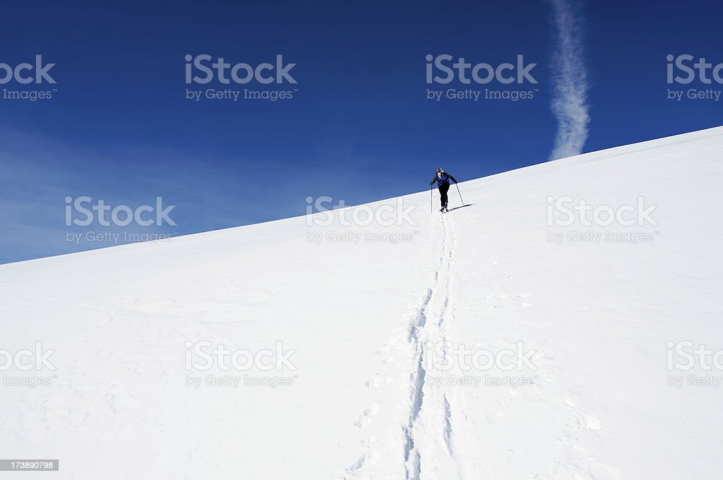 Ski mountaineering stock photo