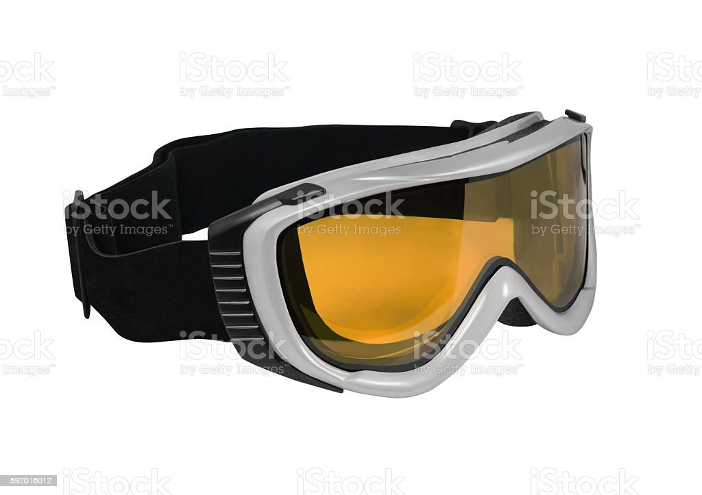 ski or snowboard goggle stock photo