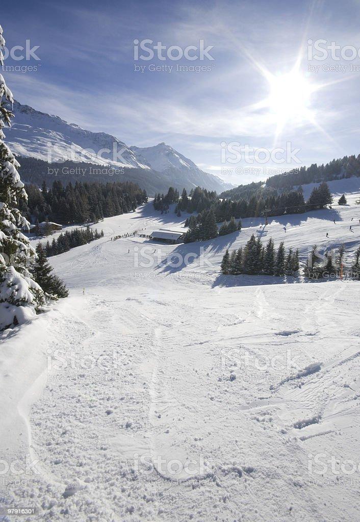Ski Paradise Backlit royalty-free stock photo