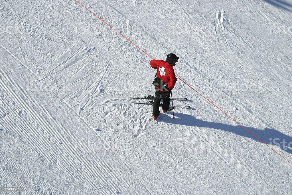 Ski Partrol stock photo