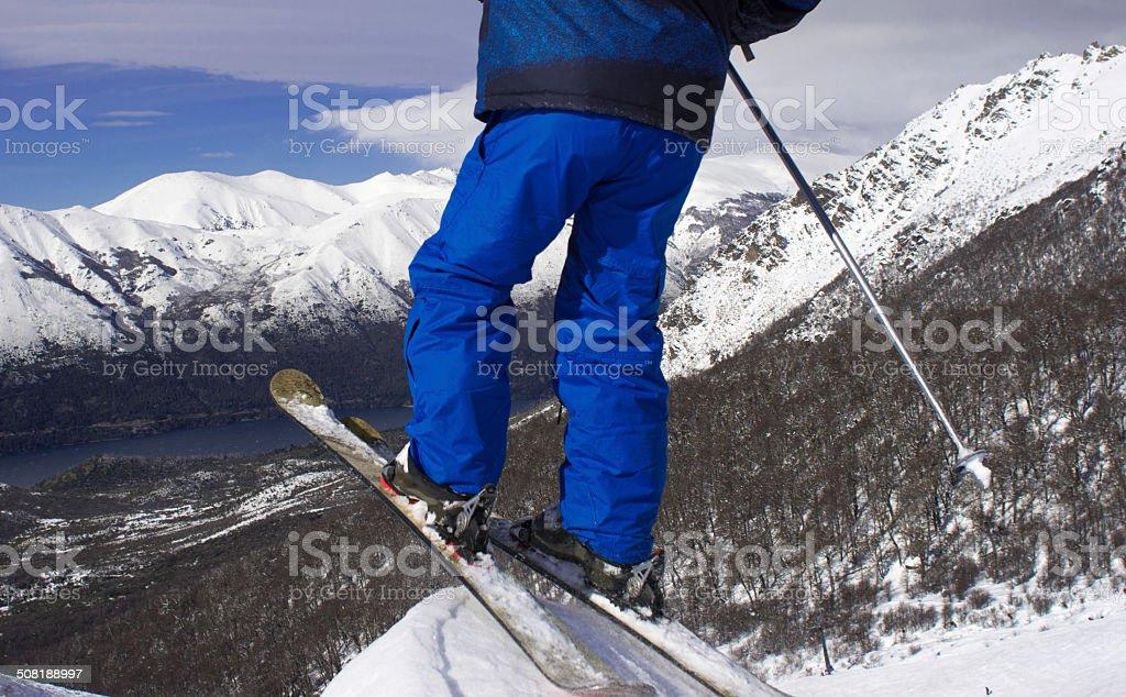 Ski  Patagonia. stock photo