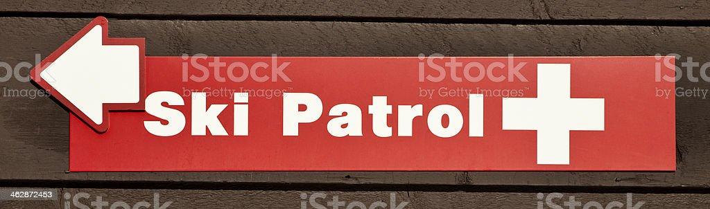 Ski Patrol sign royalty-free stock photo
