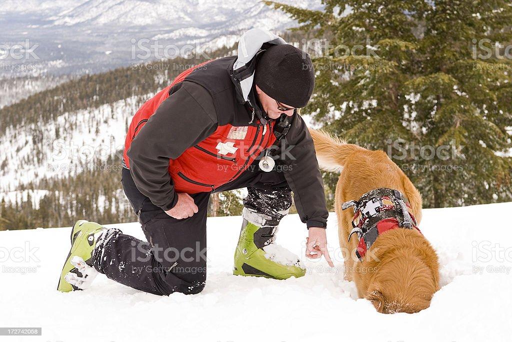 Ski Patrol Work stock photo