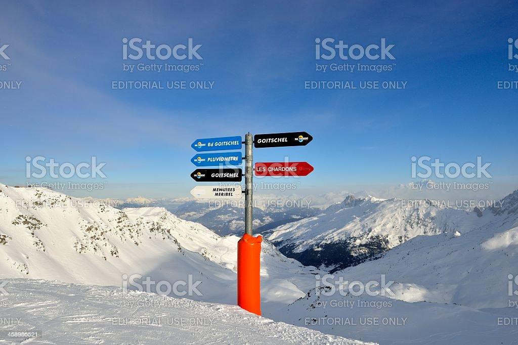Ski Piste directions royalty-free stock photo