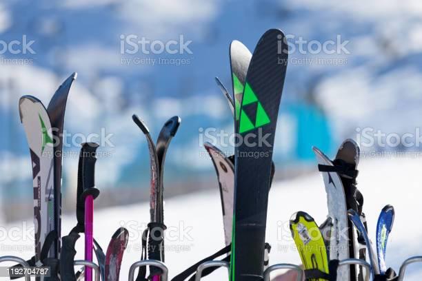 Ski Rack Stock Photo - Download Image Now