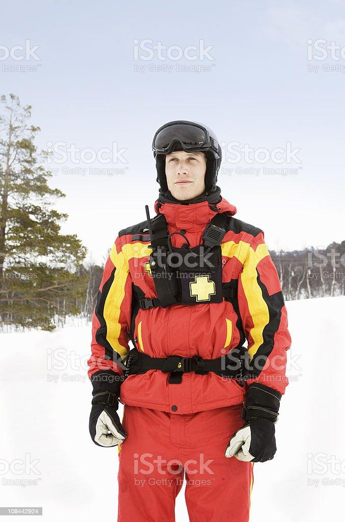 Ski Rescue stock photo