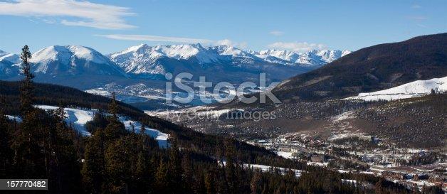 ski resort and lake
