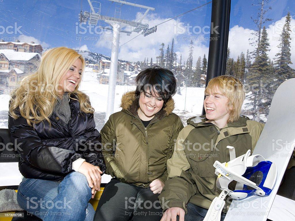 Ski Resort Fun royalty-free stock photo